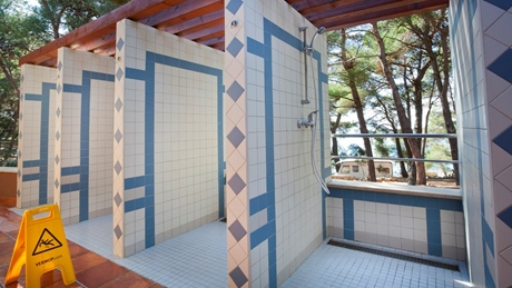 Outside showers - naturist camp Baldarin
