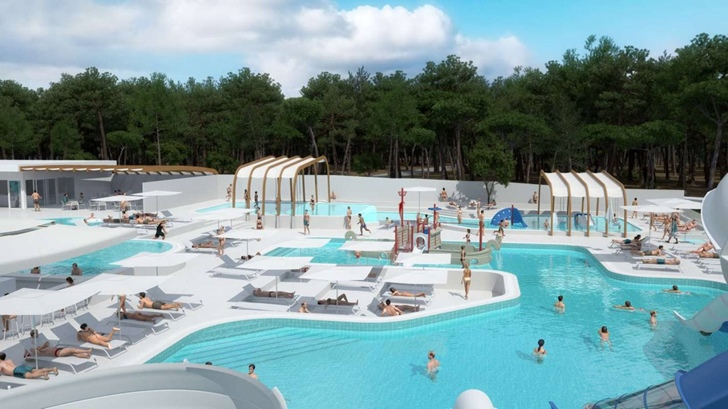 4 Pools im Aquapark