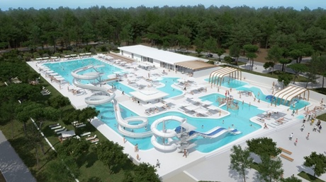 New aquapark under construction at camp Cikat