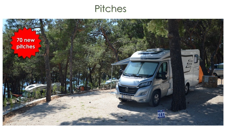 New pitches in campsite Slatina