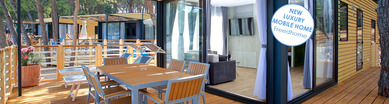 NEW Luxury mobile homes FH in campsite Čikat – book now!