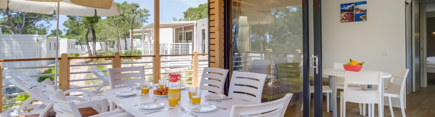 NEW mobile homes Easy FreedHome in campsite Čikat - from 64 EUR/day