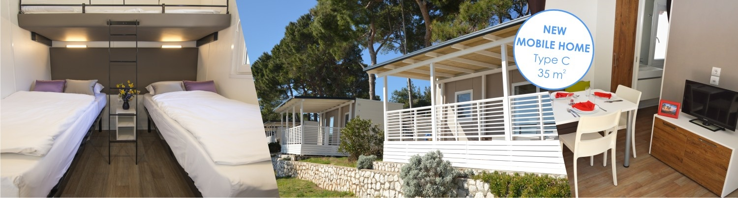 NEW mobile homes C in campsite Čikat – from 62 EUR/day